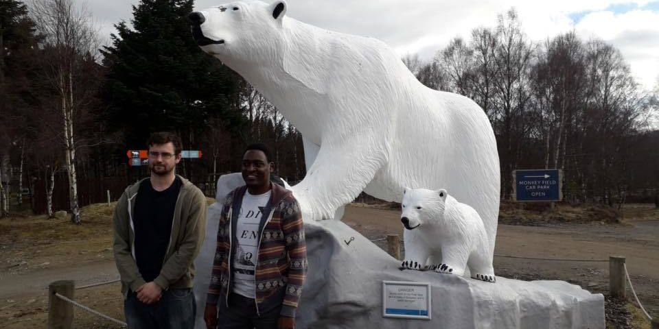 Richard And Polar Bear Statues
